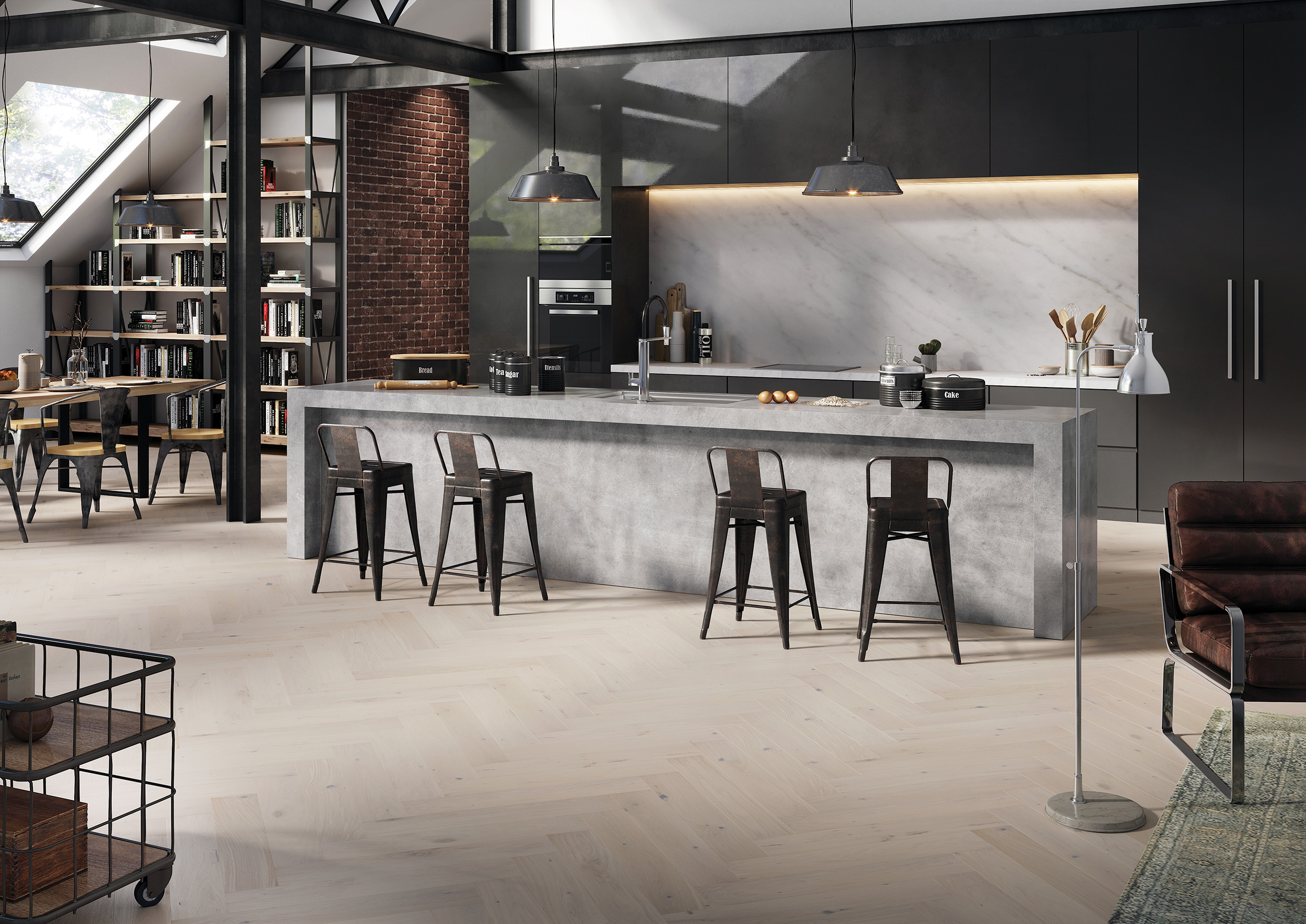 Caring for grey engineered wood flooring